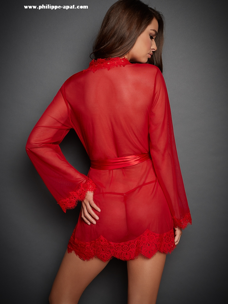 Chemise-de-Nuit-Rouge-Femme-Sexy-22884-3-2018-2019 Philippe Apat